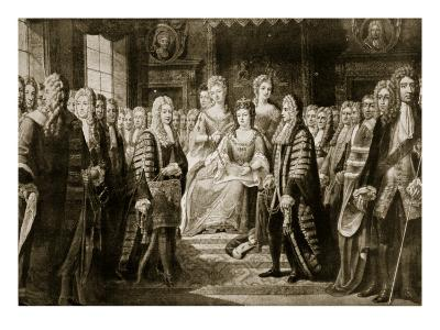 Articles of Union Being Presented to Queen Anne, 1706