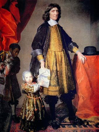Portrait of Cecilius Calvert with His Grandson and Houseboy