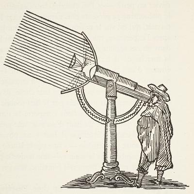 Dioptric Telescope, Copy of an Engraving by Boris Mestchersky