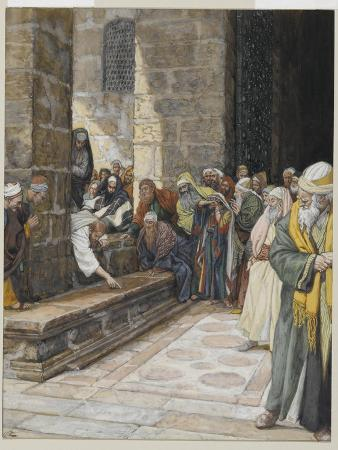 The Adulterous Woman - Christ Writing Upon the Ground