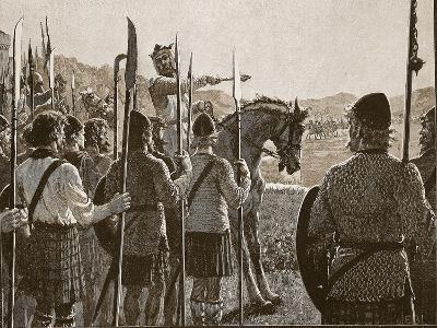 Bannockburn: Bruce Reviewing His Troops before Battle