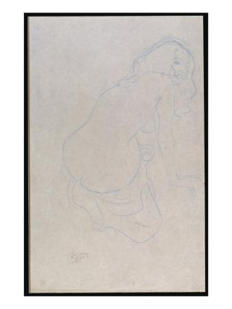 Woman Leaning to the Right with Long Hair, C.1910-11
