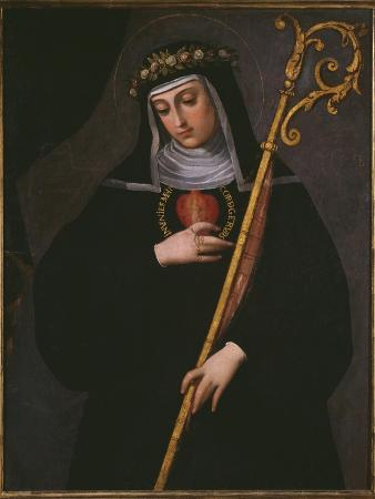 St. Gertrude the Great Carrying the Sacred Heart of Jesus
