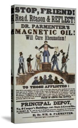 b36717fe1a3ebd Advertisement for 'Doctor Parmenter's Magnetic Oil', 1840S Giclee Print by  American School at AllPosters.com