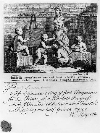 A Subscription Ticket for 'A Harlot's Progress', 1731