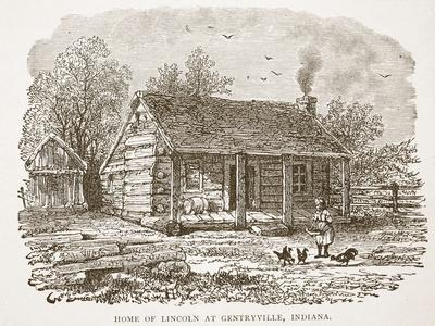 Home of Lincoln at Gentryville, Indiana, from a Book Pub. 1896