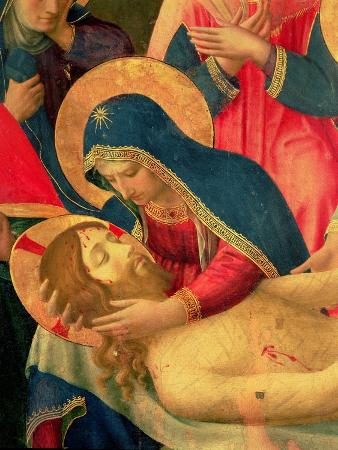 Deposition from the Cross, Detail of the Virgin Mary, 1436