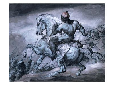 Scene from the Colonial War: a Negro on a Rearing Horse