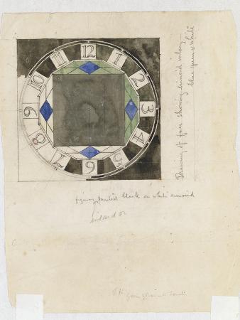 Design for a Clock Face, for W.J. Bassett-Lowke, 1917