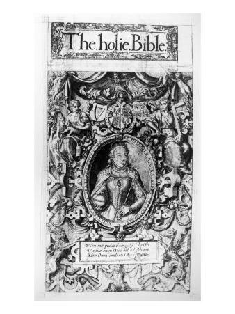 Titlepage of the Bishop's Bible, Pub. in 1568
