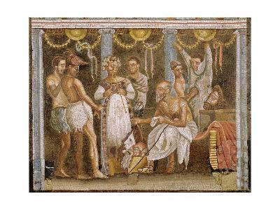 Actors Rehearsing for a Satyr Play, C.62-79 Ad