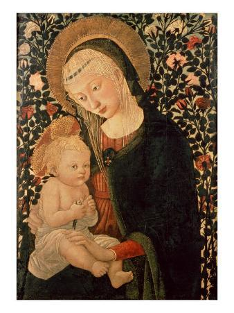 Madonna and Child Seated, Child Holding a Bird