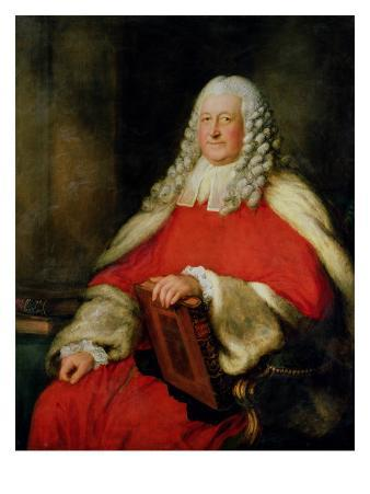 Portrait of Sir Edward Willes in Judge's Robes