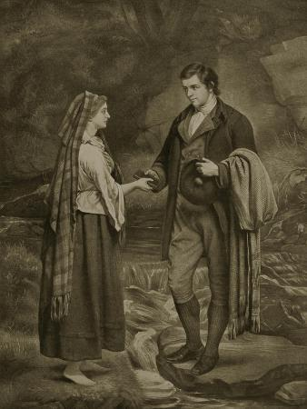 Betrothal of Robert Burns and Highland Mary, 1785
