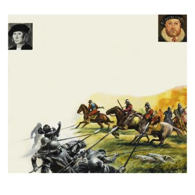 Slaughter on the Battlefield of Flodden in 1513
