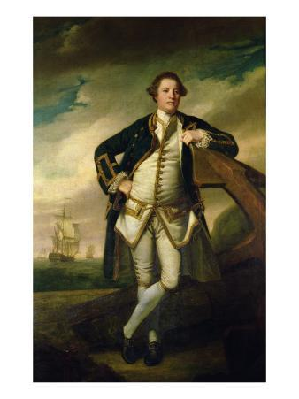 Capt. Philemon Pownall in Naval Uniform, 1762-65