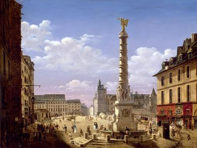 The Fountain in the Place Du Chatelet, Paris, 1810