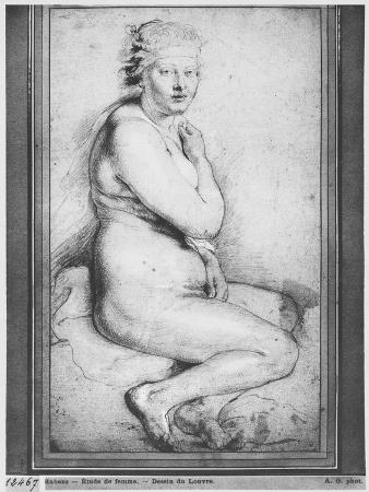 Young Nude Woman, Seated, Turned to the Right