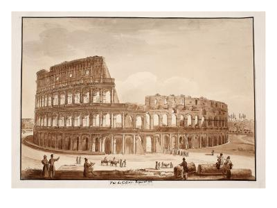 View of the Colosseum During Restoration, 1833