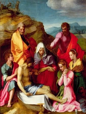 Deposition with Virgin Mary and Saints, 1523-24