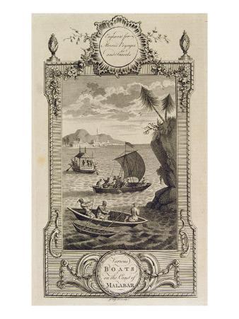Various Boats on the Coast of Malabar, C.1780