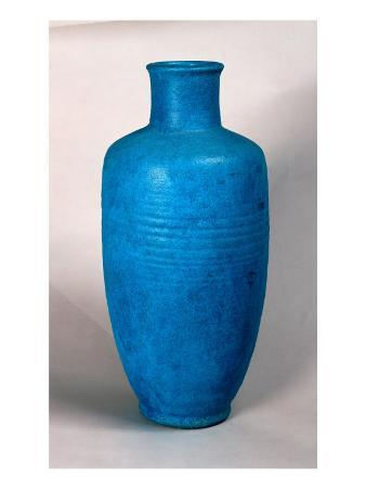 Vase in the Form of a Straight Necked Bottle