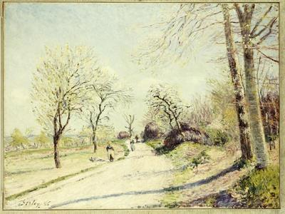 The Road from Veneux to Moret on a Spring Day, 1886