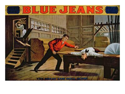 The Great Saw Mill Scene', Poster for 'Blue Jeans'