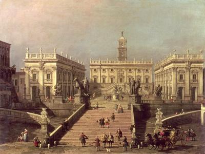 View of Piazza Del Campidoglio and Cordonata, Rome