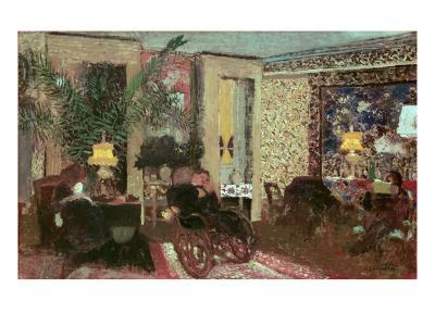 Interior Or, the Salon with Three Lamps, 1899