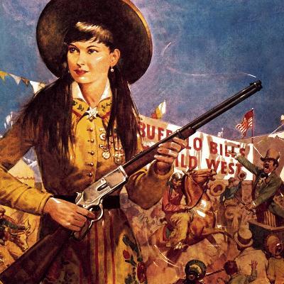 Sharpshooter Annie -- Annie Oakley and Her Gun