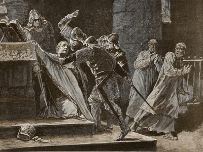 The Murder of Becket in Canterbury Cathedral