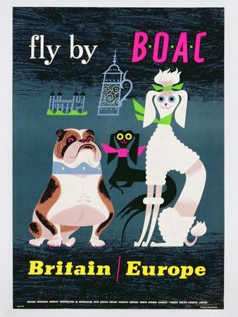 Poster Advertising British Overseas Airways, C.1962