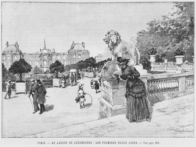 Jardin of Luxembourg, the First Fine Days, C.1870-80