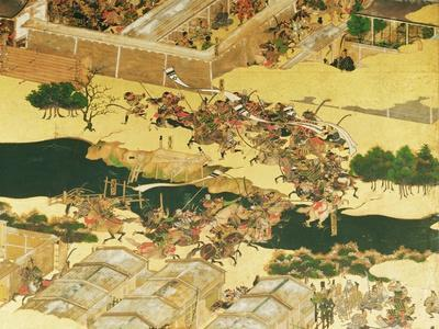 The Battle of Hogen from a Screen, Momayama Period