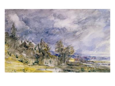 Hampstead Heath from Near Well Walk, 1834