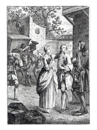 Meeting of Chevalier Des Greux and Manon
