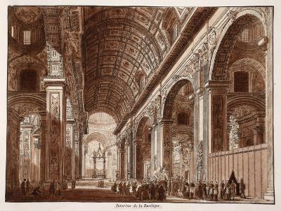 Interior of St. Peter's Basilica, 1833