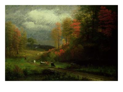 Rainy Day in Autumn, Massachusetts, 1857