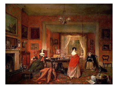 Three Ladies in a Drawing Room Interior