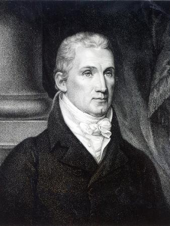 James Monroe, Engraved by Thomas Gimbrede