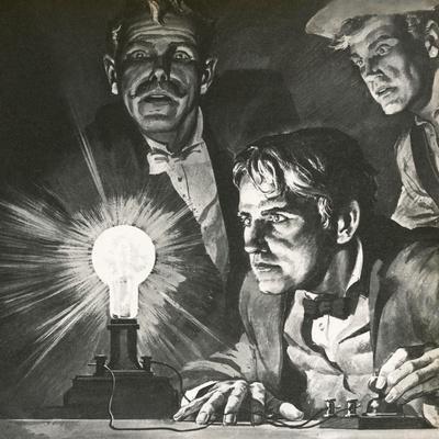 Edison's Experimentation with Light Bulbs