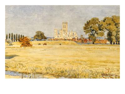 Canterbury Cathedral from the Meadows, 1894