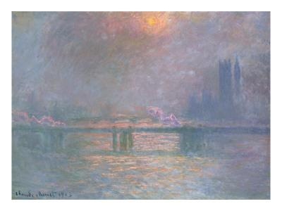 The Thames with Charing Cross Bridge, 1903