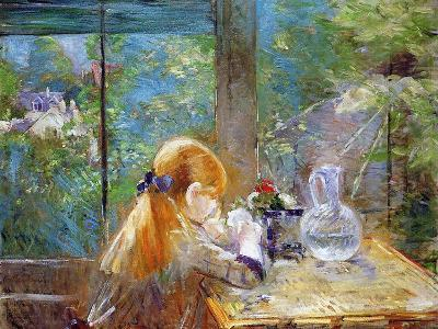 Red-Haired Girl Sitting on a Veranda, 1884