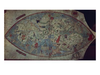 Genoese World Map, Designed by Toscanelli