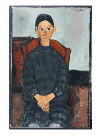 A Young Girl with a Black Overall, 1918