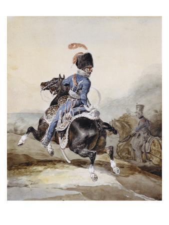 Artillery Officer Galloping to the Left