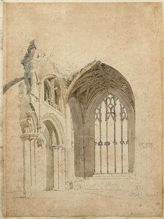 Melrose Abbey: the East Window, C.1770S
