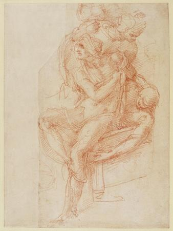 Study of Lazarus and Two Attendant Figure